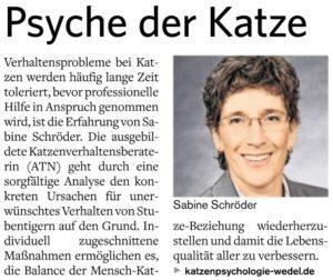 Katzenpsychologie-Wedel: PR-Text