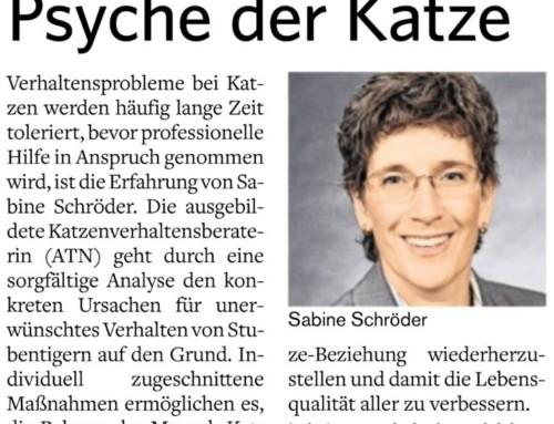 Katzenpsychologie-Wedel: Presse für Messe :-)