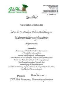 Katzenpsychologie-Wedel: Fortbildung Katzenernährungsberatung
